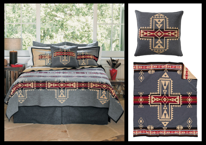 The Pendleton Corssroads blankets  and pillows