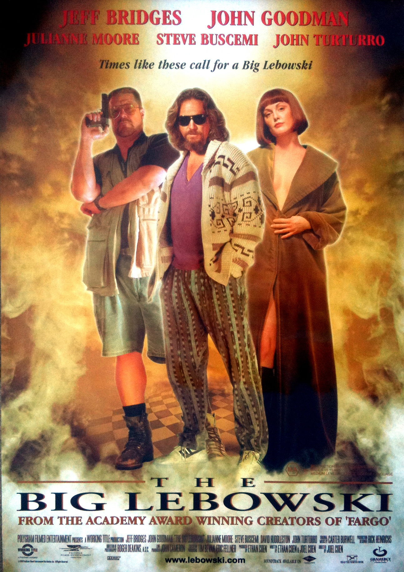 "A movie poster for ""The Big Lebowski."""