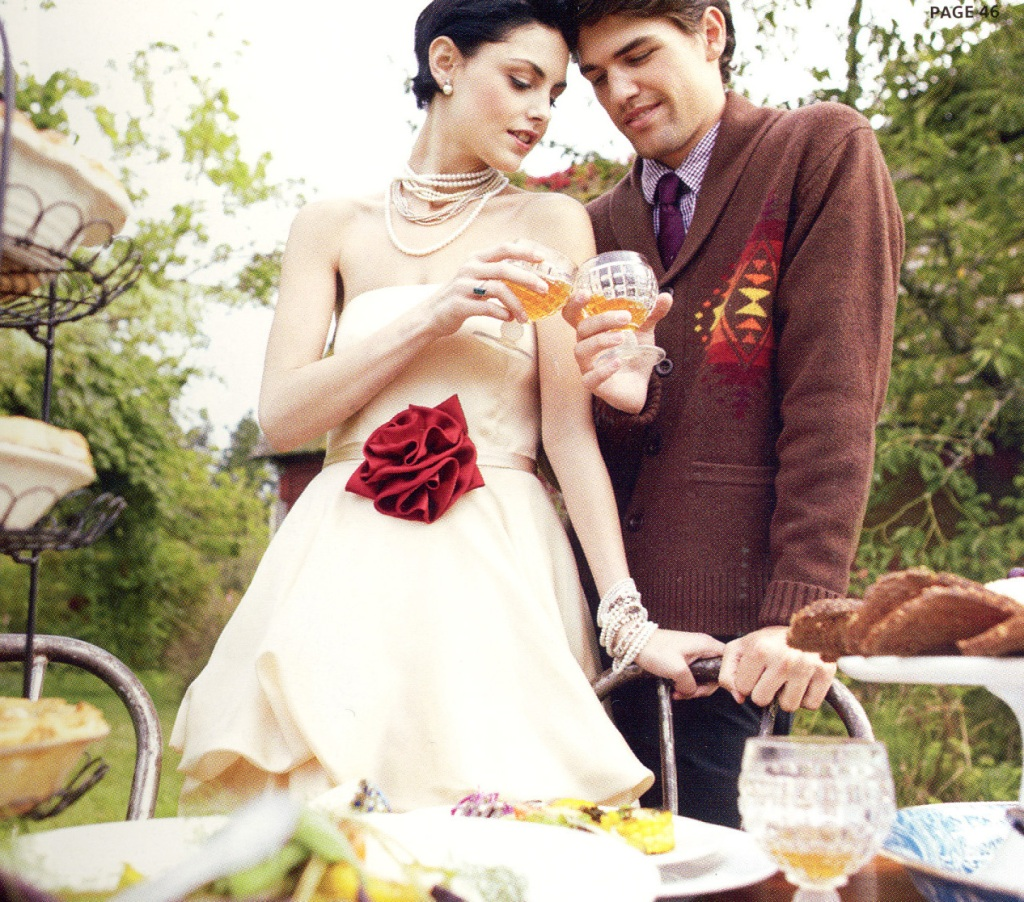 Photo of bride & groom (models) from Portland Bride magazine, used with permission