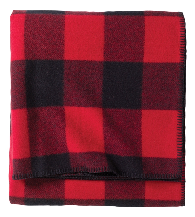 Pendleton washable bed blanket in Lumberman plaid
