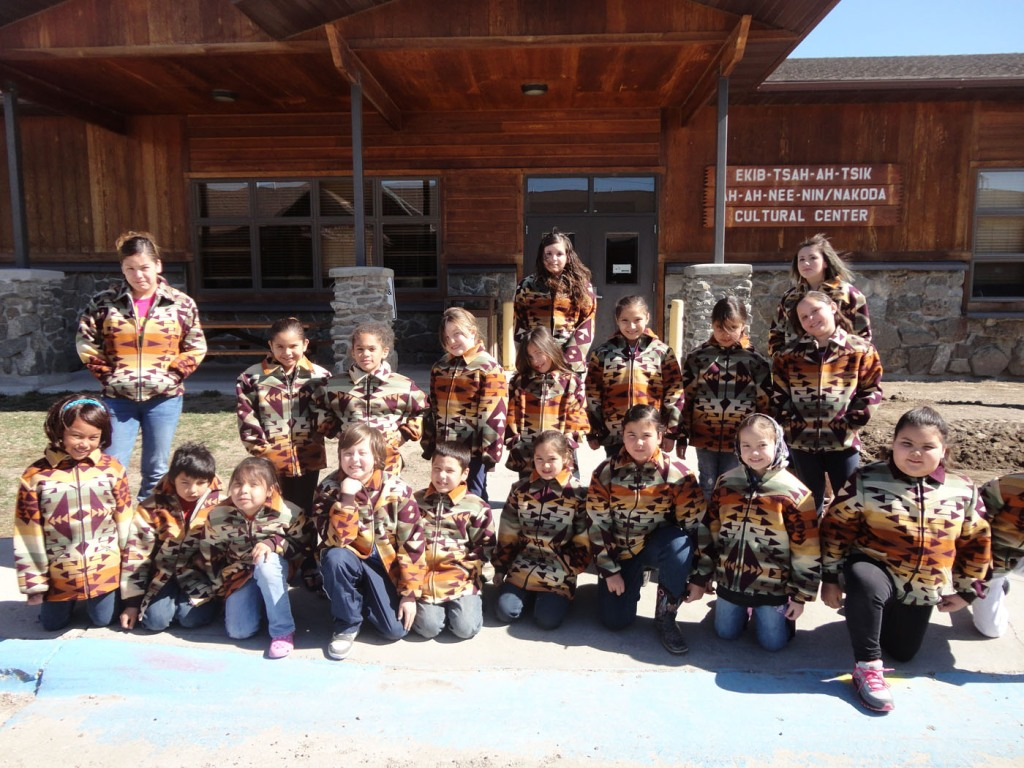 23 students in their new jackets.