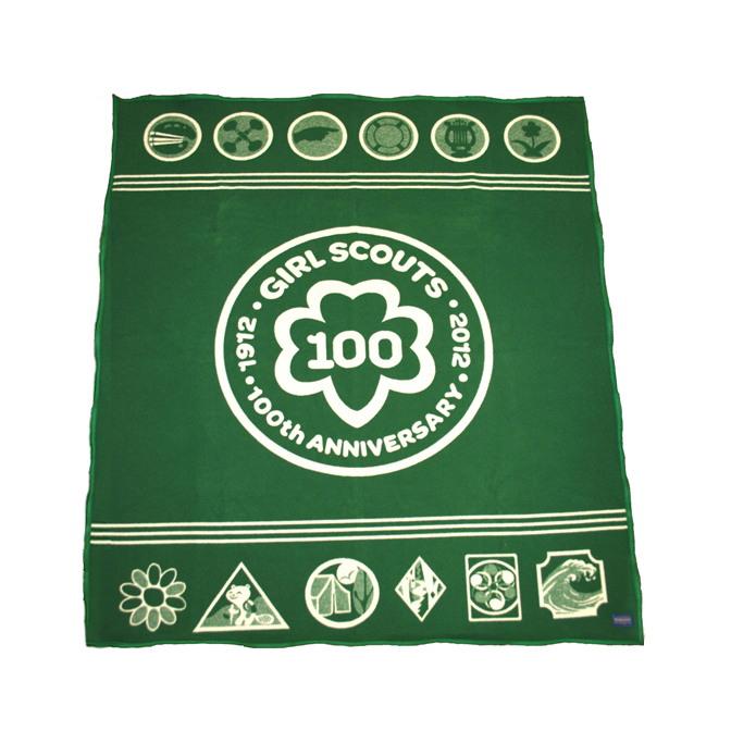 Pendleton's blanket for the Girl Scouts 100 years anniversary