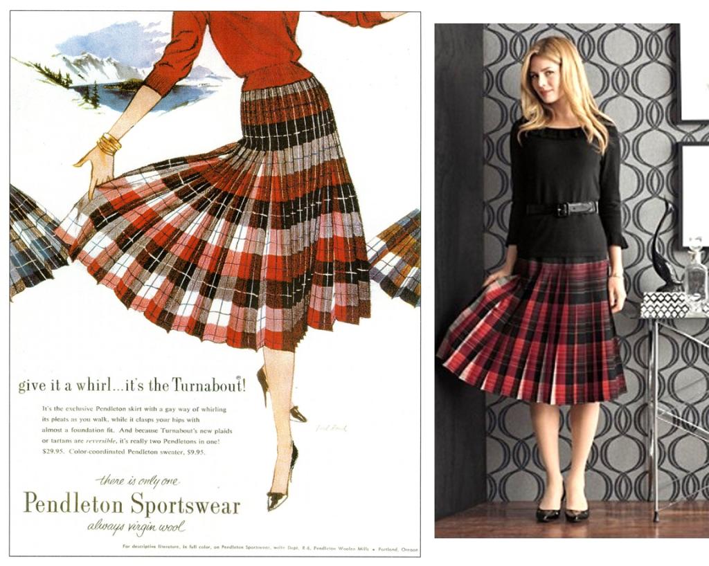 5abf741f14 The Turnabout: Pendleton's Reversible Skirt | Pendleton Woolen Mills