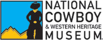 Logo for the National Cowboy and Western Heritage Museum, featuring a silhouette of Jackson Sundown.