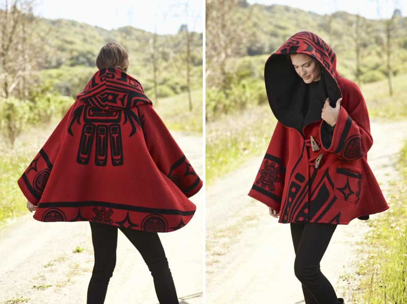Cloak by Lindsey Thornburg made from a Raven blanket