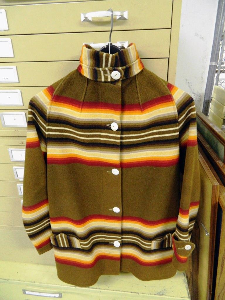 KHaki colored archival toboggan coat