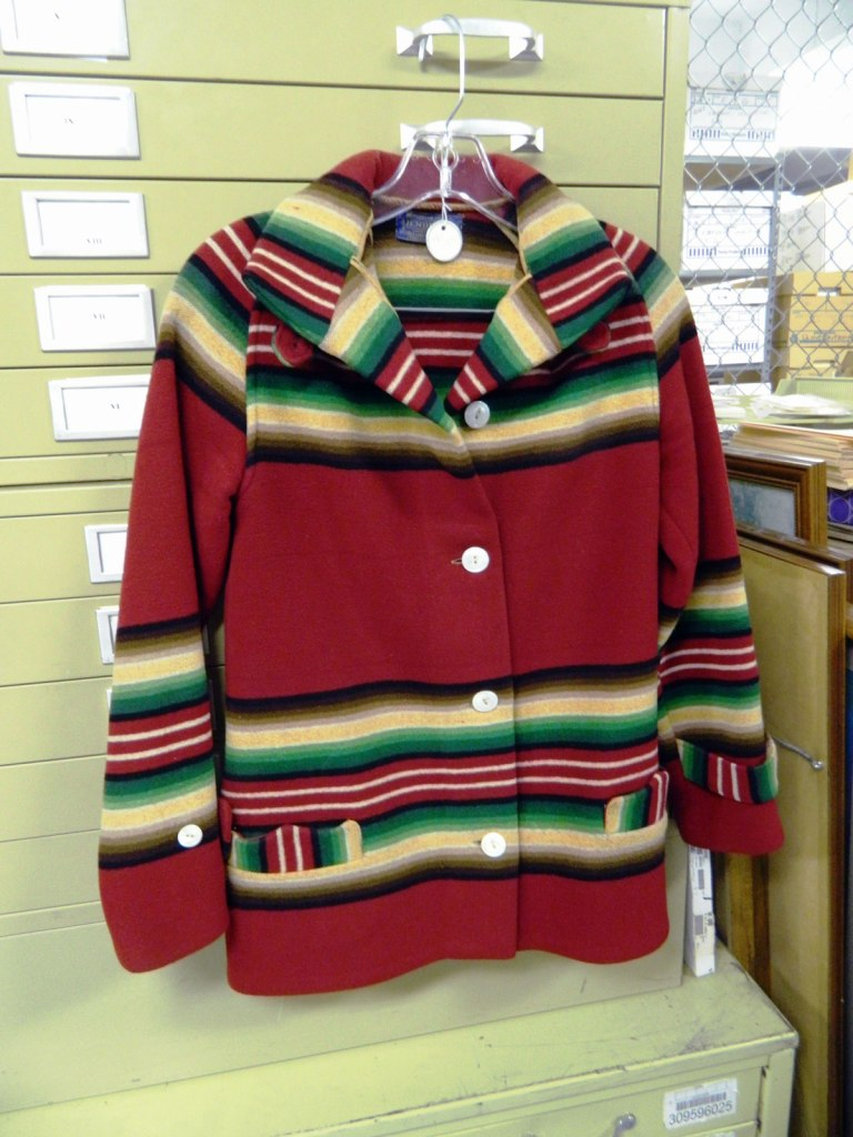 Another Pendleton toboggan coat in red from the Pendleton archives