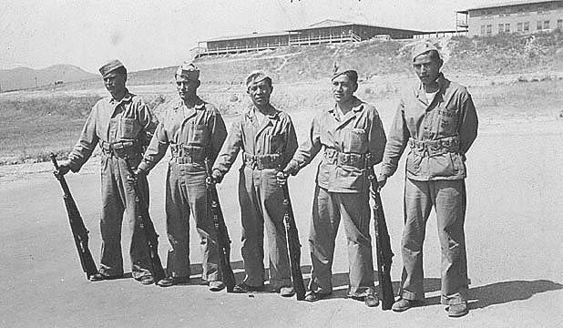 Historical photo of Navajo Code Talkers