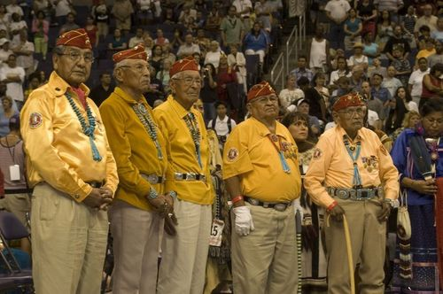 Choctaw Code Talkers at honors ceremony