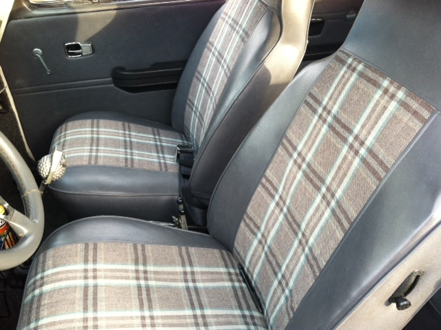 plaid car interior fabric. Black Bedroom Furniture Sets. Home Design Ideas