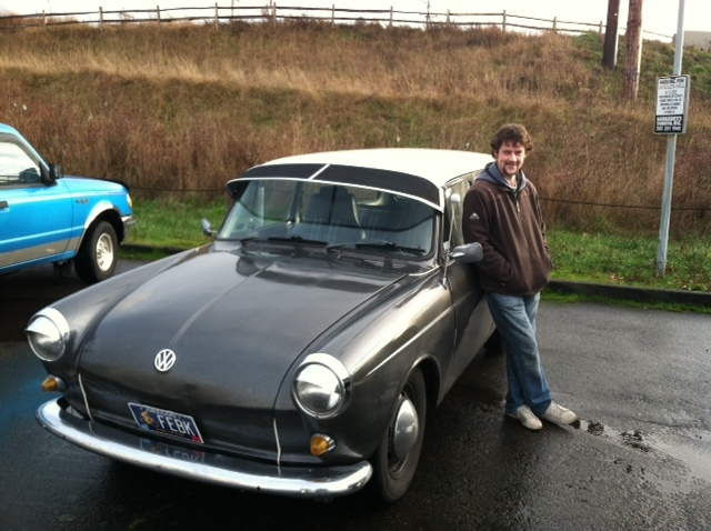 Jeremy Fisher and his car