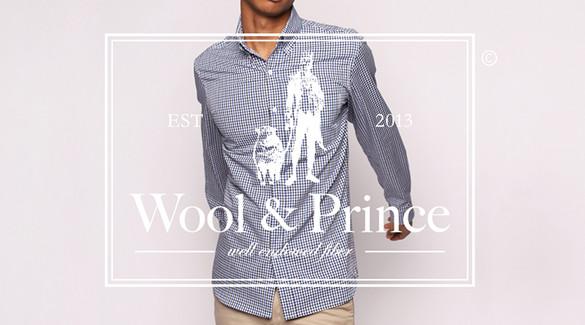 Wool & Prince shirt and logo