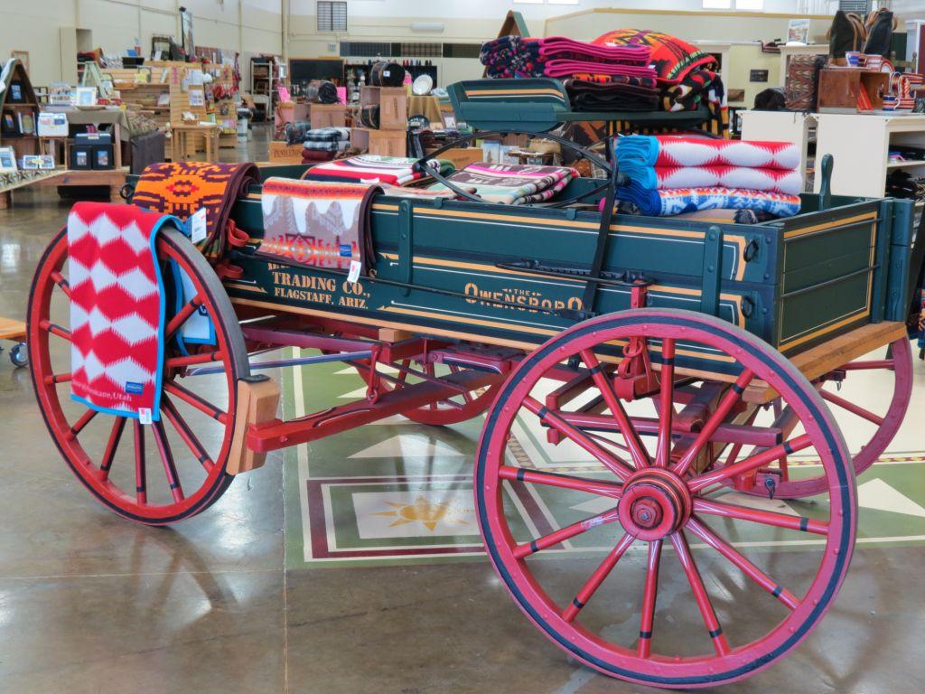 Babbitt wagon at the Woolen Mill Store