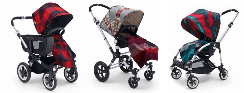Bugaboo x Pendleton strollers