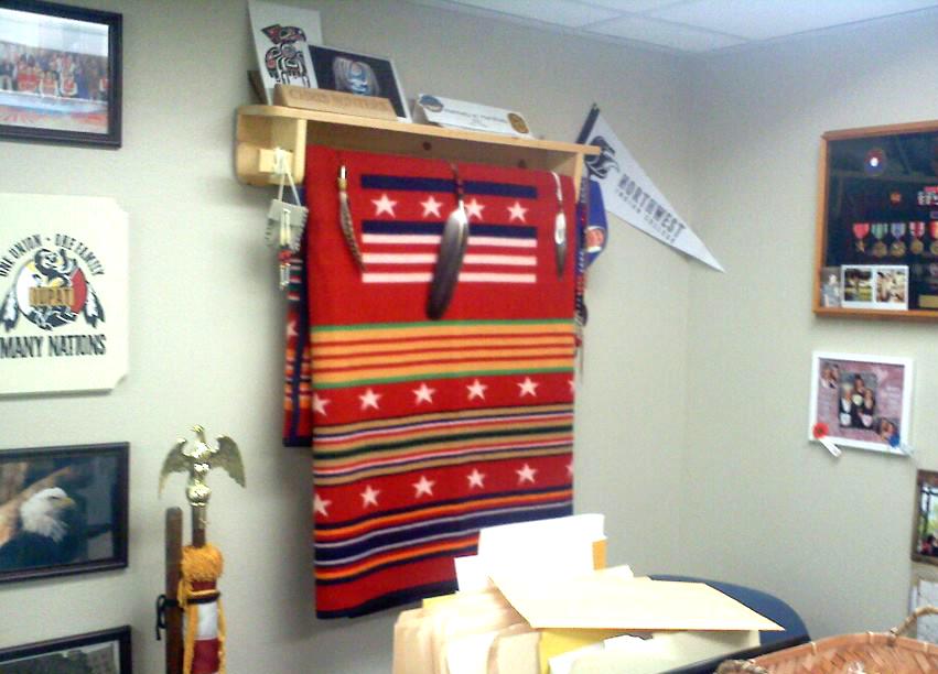 office blanket display