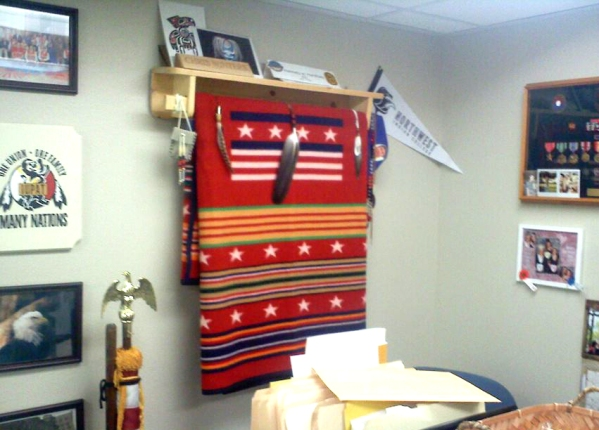 office blanket display