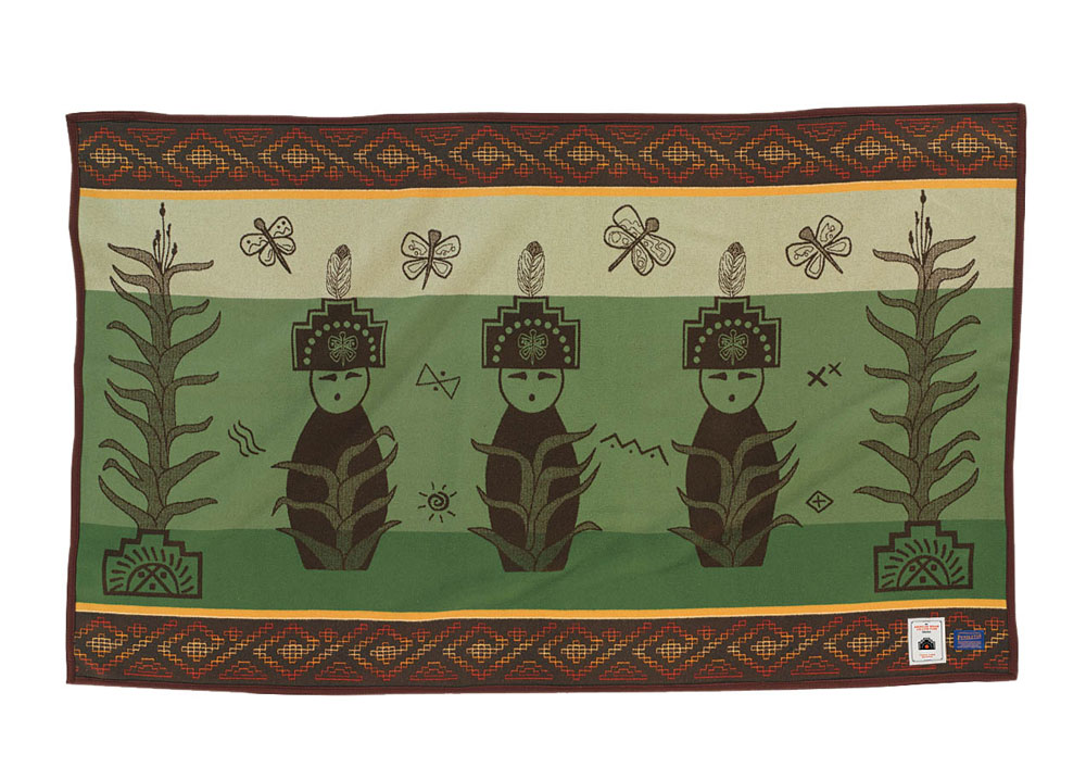Three Corn Maidens blanket for the College Fund, by Pendleton