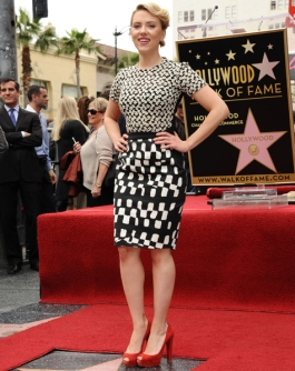 Scarlett Johansson Honored With A Star On The Hollywood Walk Of Fame