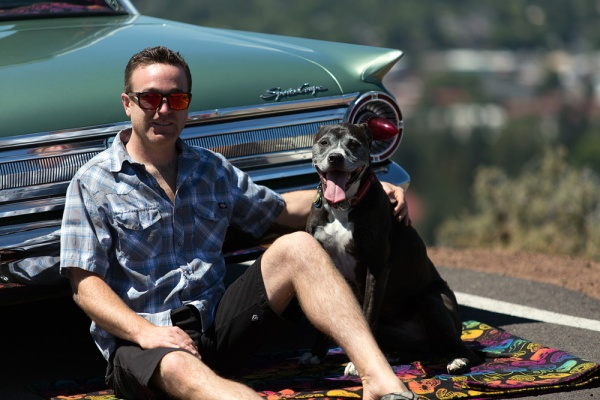 Danimal and Lola Jane, Pendleton wool blanket, photography Skyler Hughes