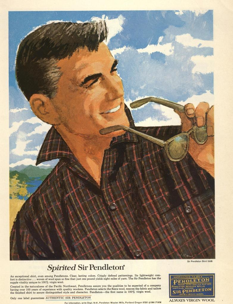 Sir pendleton wool shirt advertising vintage