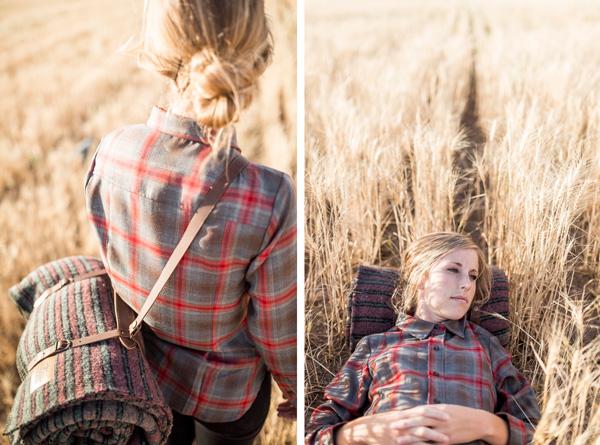 photos by Travis Hallmark, woman in wheatfield