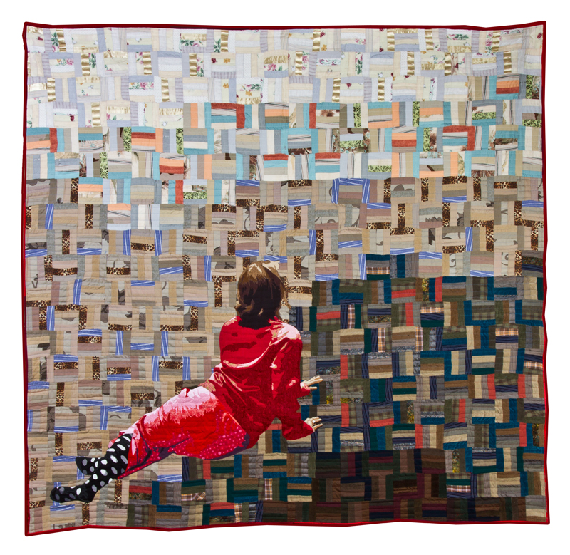 """A Luke Haynes quilt that echoes """"Christina's World"""" by Wyeth."""