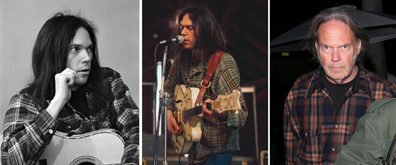 Neil Young in Pendleton shirts.