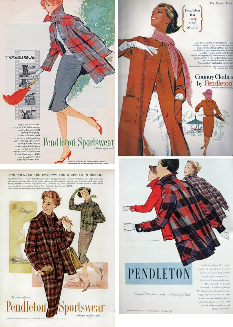 Vintage pendleton outerwear Ads