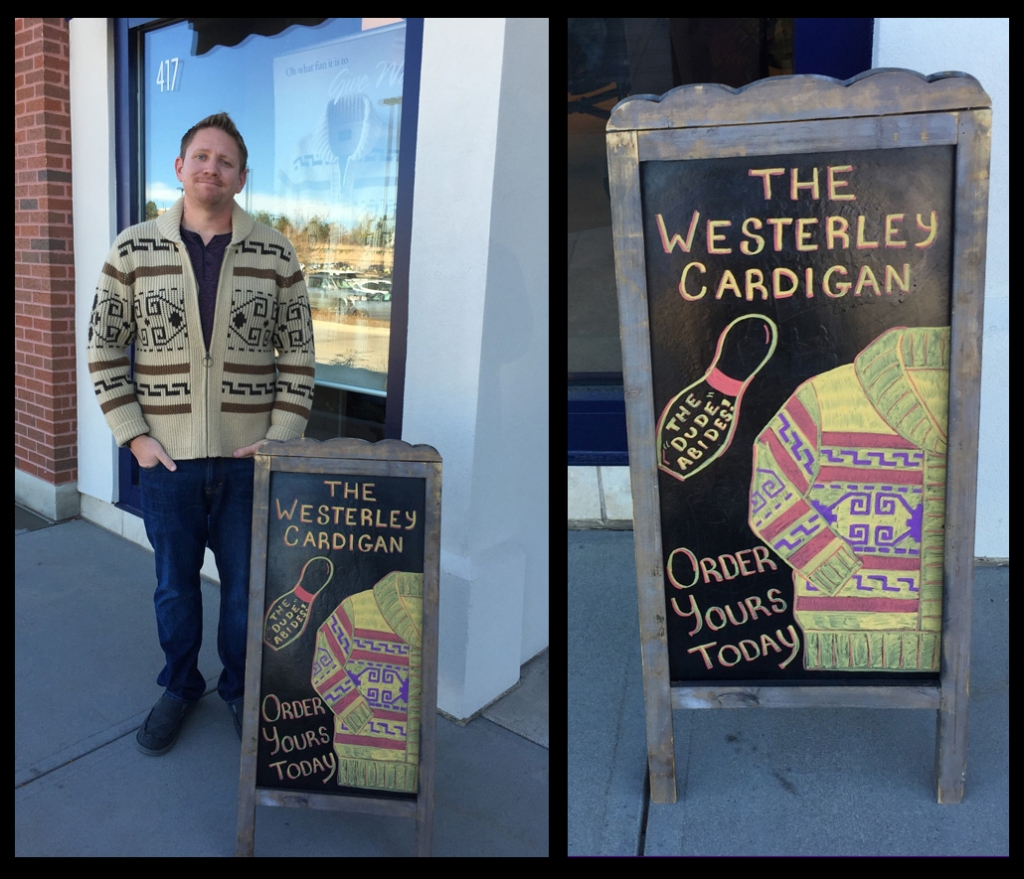 Colorado  Manager & sign for Westerley sweaters
