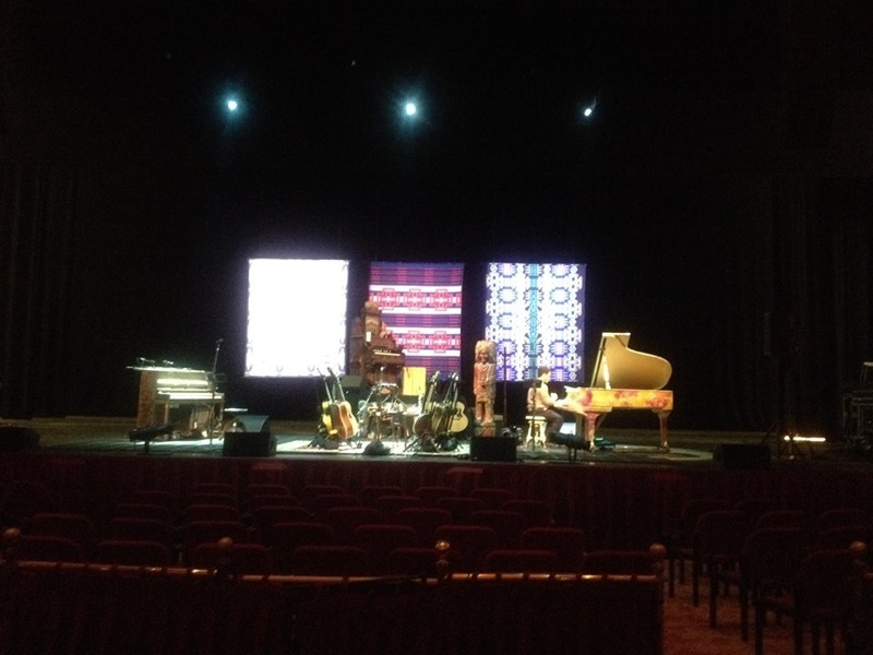 Photo of the stage, Neil Young concert, fan photo sent to Pendleton, all rights reserved, used with permission
