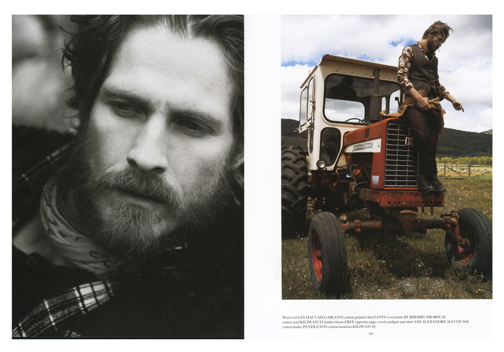 Spread from Fall 2014 Man of the World magazine, featuring Pendleton's Thomas Kay line.