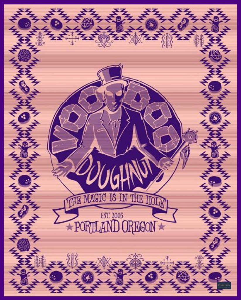 voodoo donut blanket