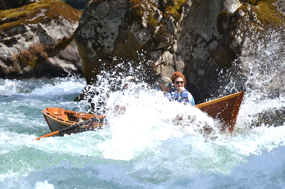 Greg and guest on the whitewater of the McKenzie River
