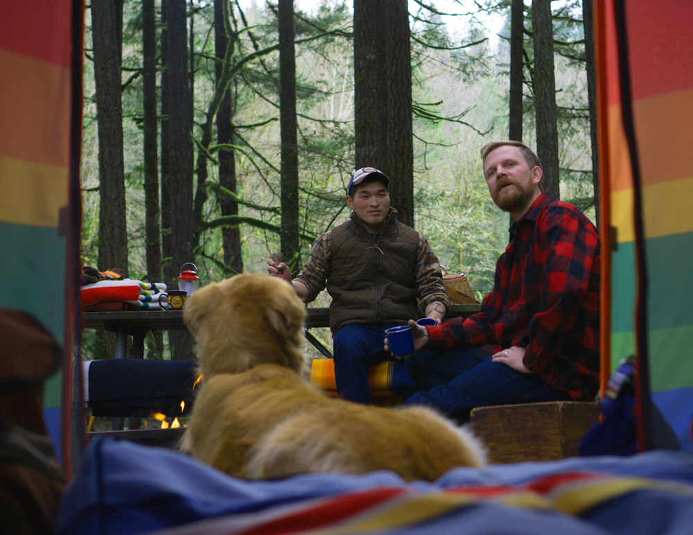 Parker Pup Tent with two friends