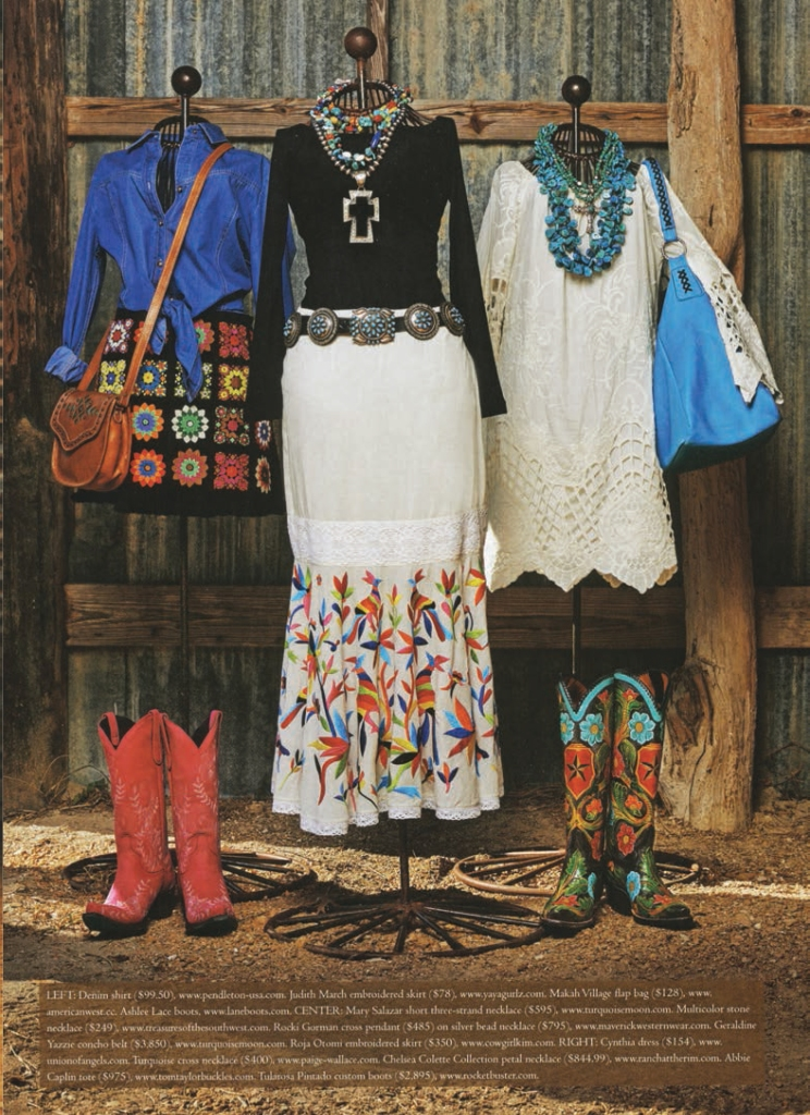 Cowboys & Indians Spring fashion shoot - Mannequins with fun Western outfits