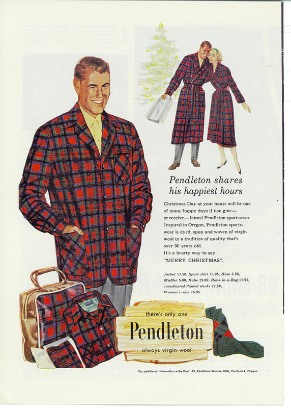 Vintage pendleton ass with tartan for men