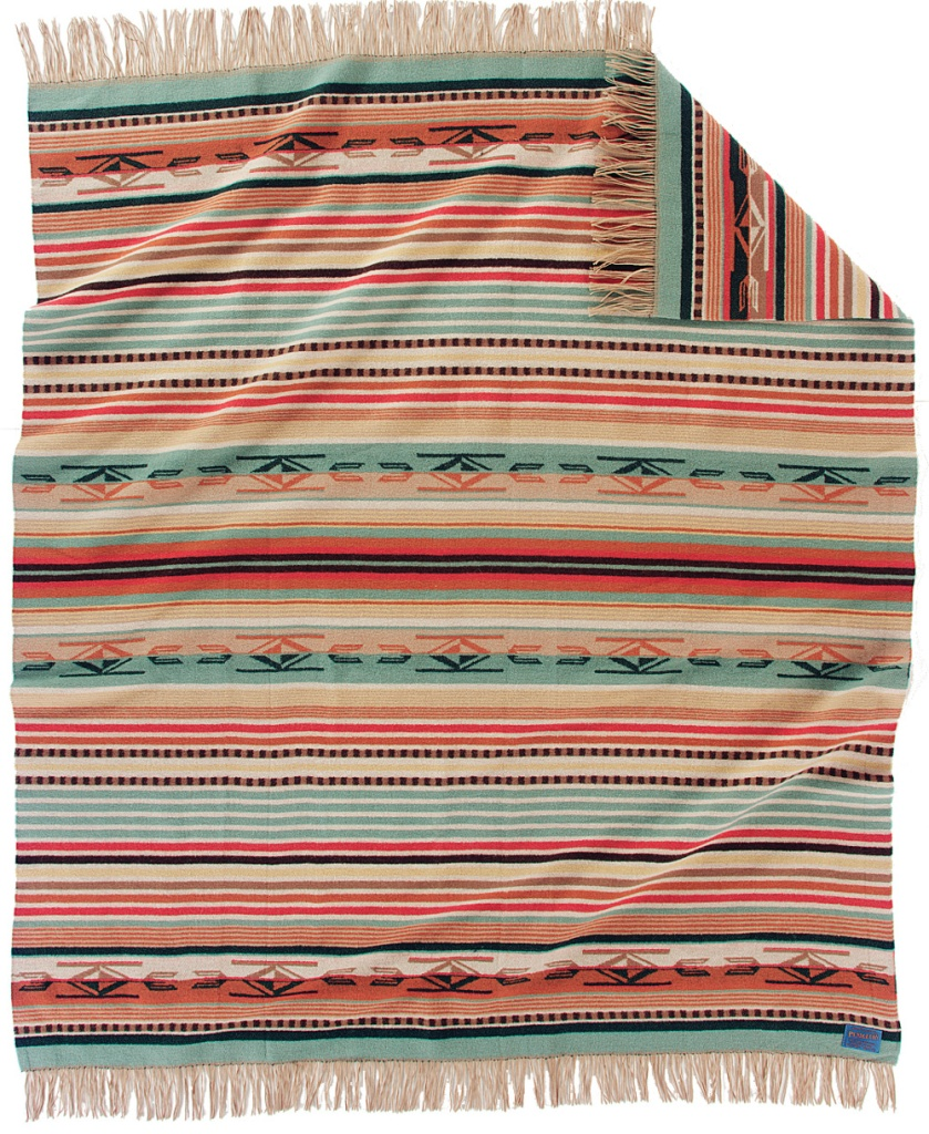 Pendleton Chimayo THrow in COral
