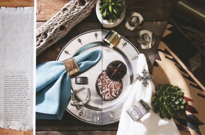 Cowboys & Indians magazine photo spread featuring Pendleton tabletop