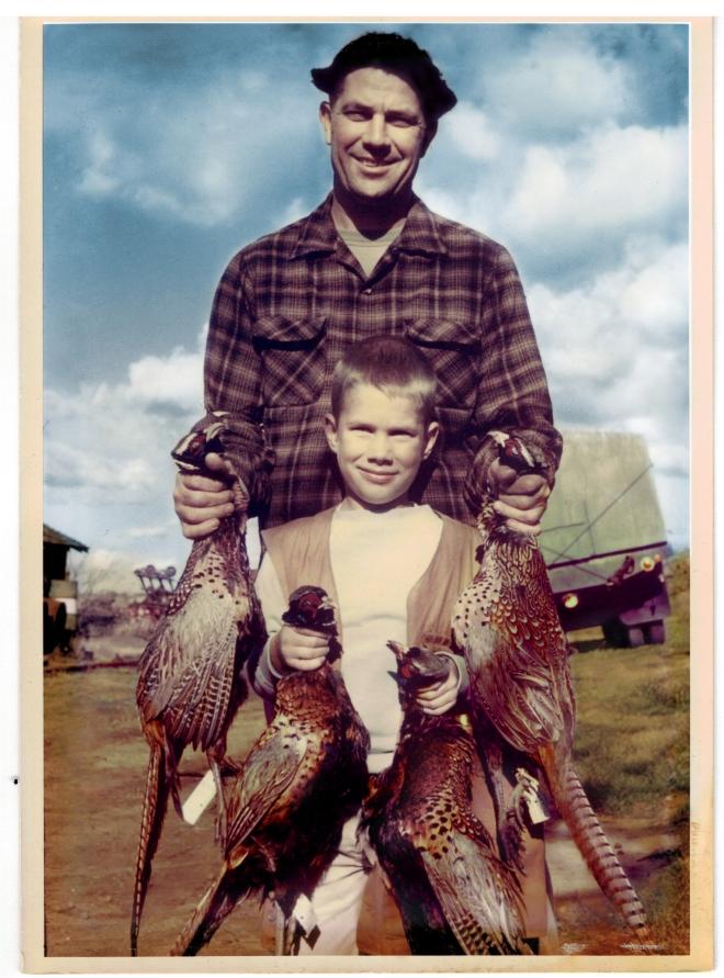 Matt Raven1963_photo with father, son, pheasants