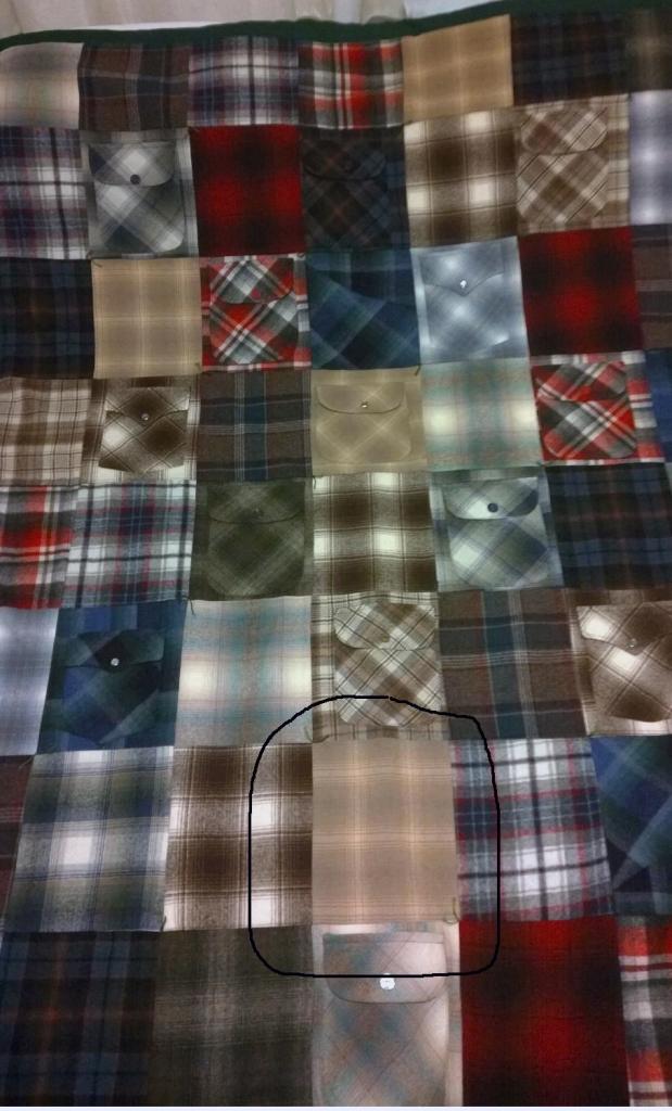 Original Circled, shirt quilt