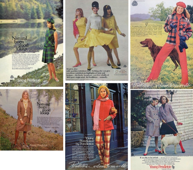 Young Pendleton Ads featuring Cheryl Tiegs