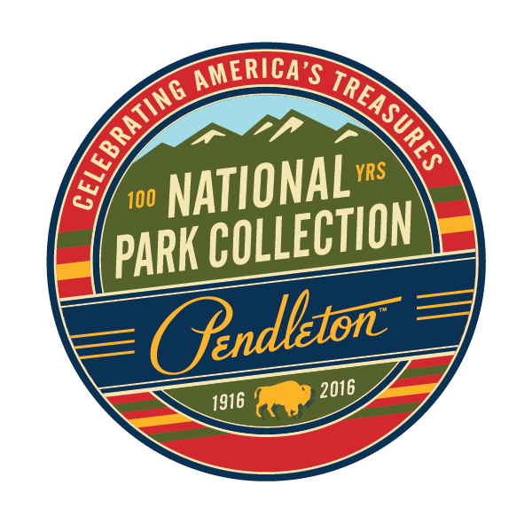 A round logo for the Pendleton National Park Collection.
