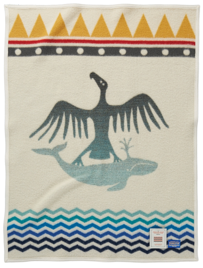 Thunderbird and Whale child's blanket by Pendleton