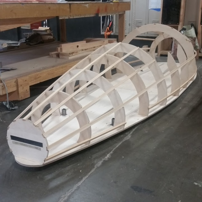 frame of soapbox derby car