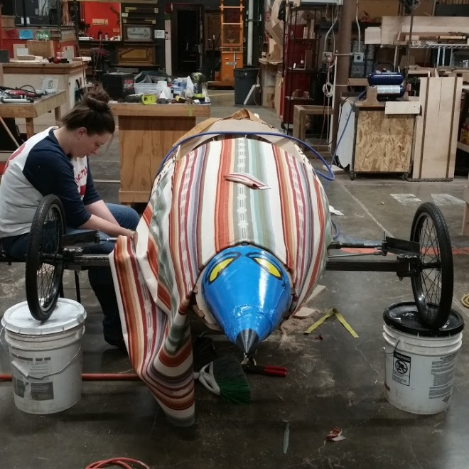 Construction of the soapbox derby car