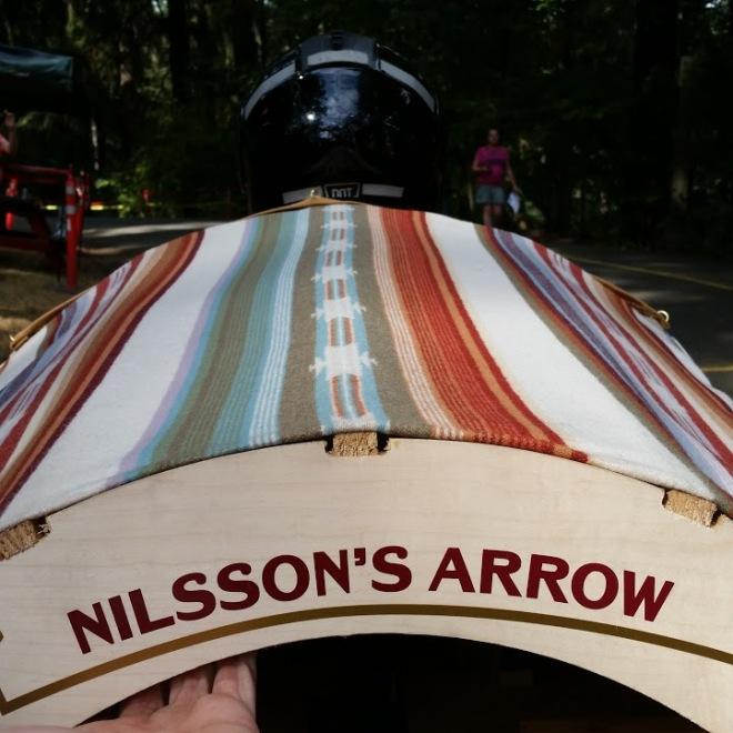 """""""Nilsson's Arrow"""" painted on the car"""