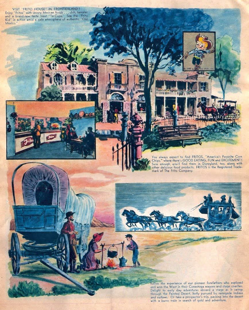 A brochure for Frontierland at Disneyland.