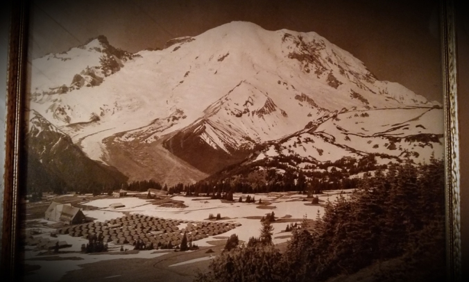 Louise always loved Mt. Rainier. This photo of the mountain and a CCC camp at its base hung on the wall of her home for most of her life.