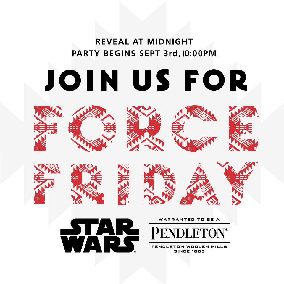 Pendleton Star Wars invitation