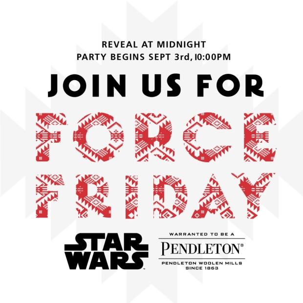 Pendleton Star Wars invitation